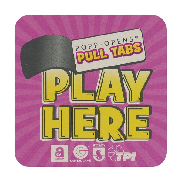 Promotional Pulp-Board Coasters - 4 inches square