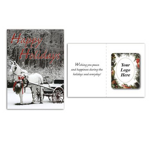 Imprinted Greeting Card with Magnetic Photo Frame