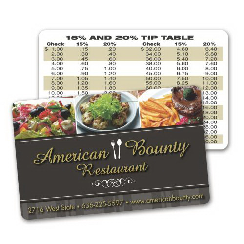 Imprinted Laminated .015 Paper Wallet / Loyalty Card