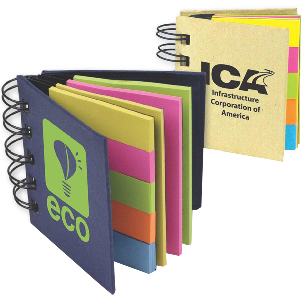 Imprinted Sticky Flags Flip Book