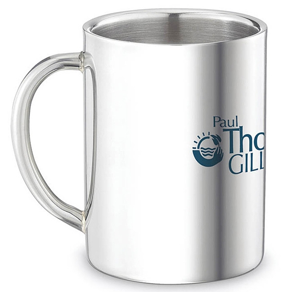 Printed Double Wall Stainless Steel Mug - 9 oz
