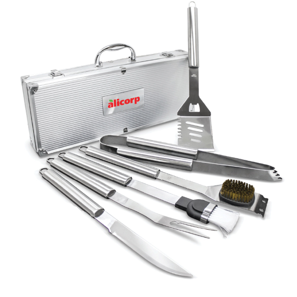 Customized Deluxe 6 pc BBQ Tool Set