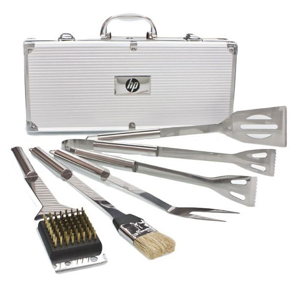 Personalized Deluxe 5 pc Stainless Steel BBQ Tool Set
