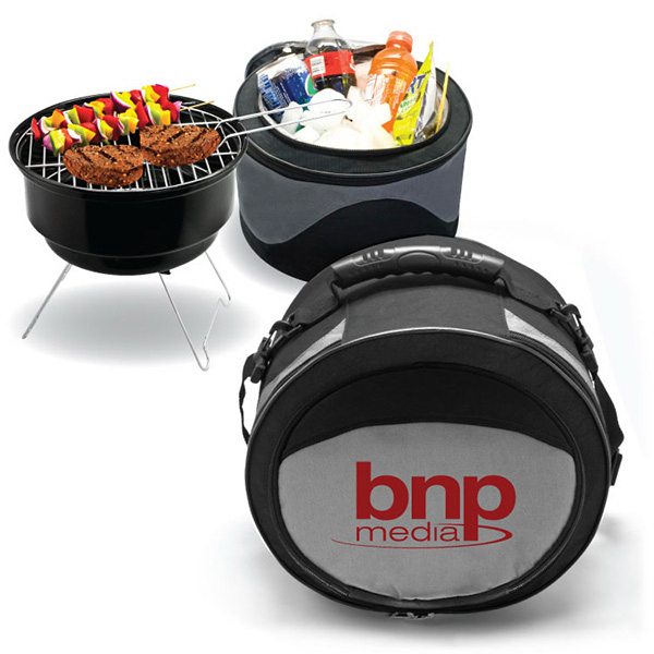 Promotional 2 in 1 Cooler / BBQ Grill Combo