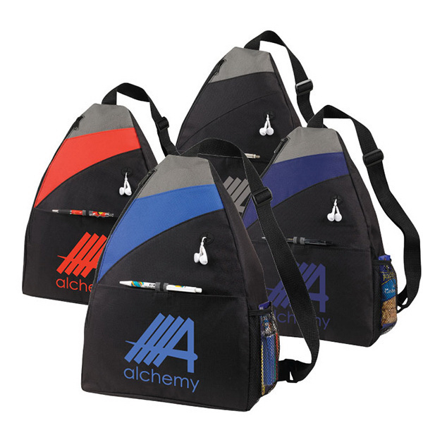 Imprinted Ashbury Sling Backpack