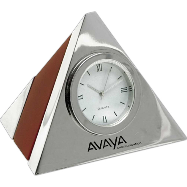 Imprinted Executive Pyramid Clock
