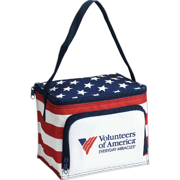 Promotional Americana Stars N Stripes 6 Pack Cooler