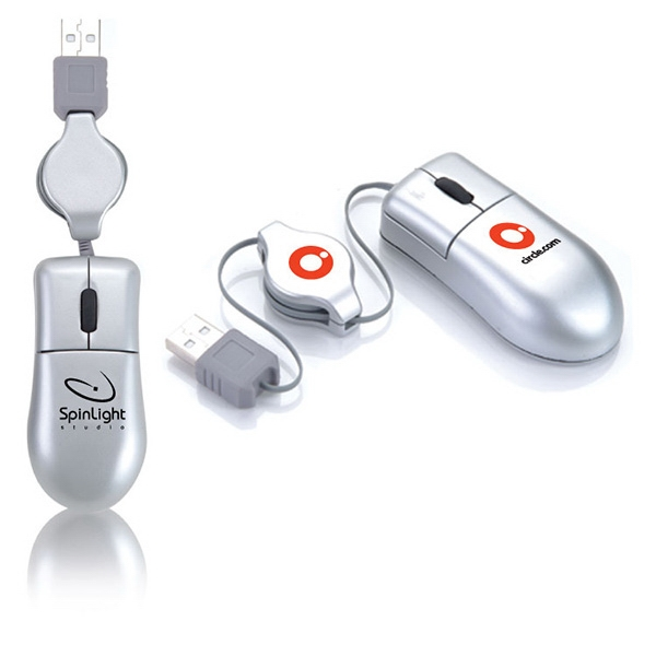 Promotional Portable optical mouse with USB Cord