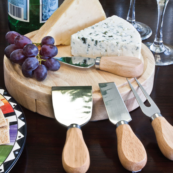 Customized Gourmet 5 Piece Cheese Set / Cutting Board