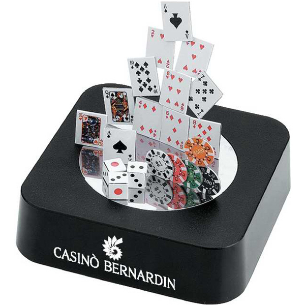 Promotional Magnetic Sculpture Block - Poker