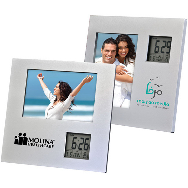 Custom Photo Frame with Two Way Clock