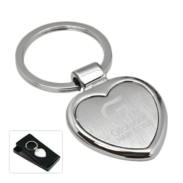Customized Cupid Heart Key Tag