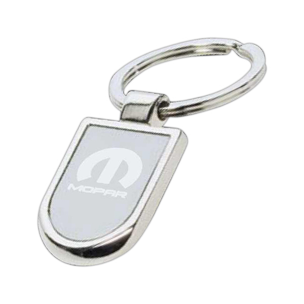 Imprinted Rounded square key tag