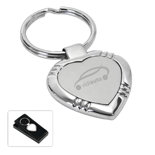 Promotional Heart shaped key tag