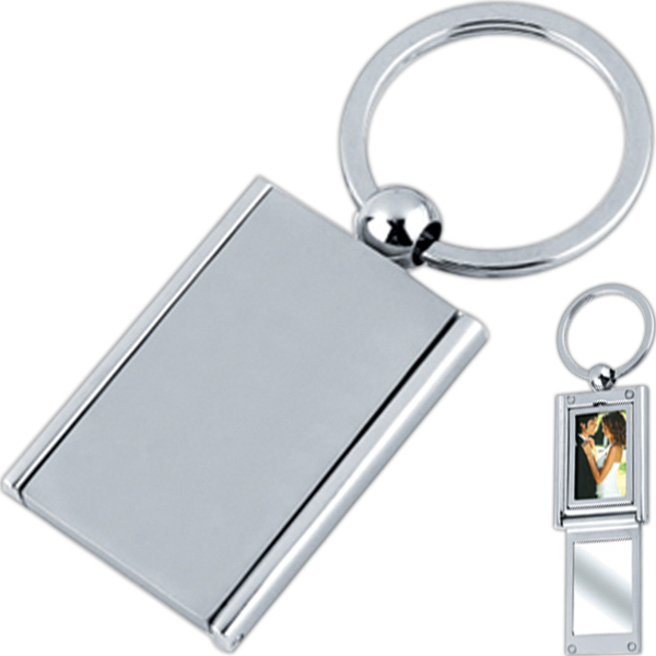Imprinted Rectangle photo key tag