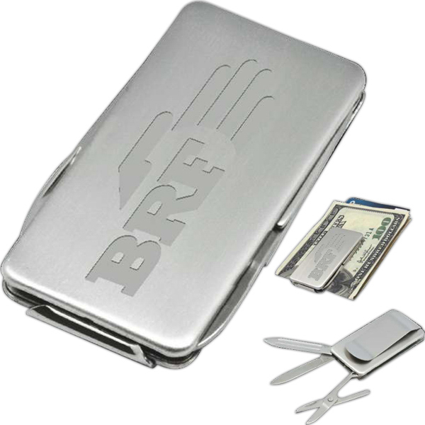 Imprinted Troy Multifunction Money Clip
