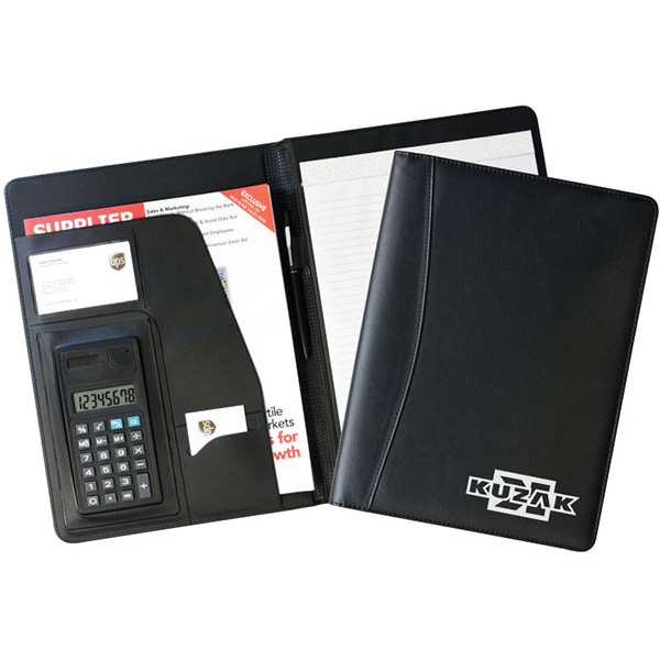 Promotional Letter sized portfolio with calculator