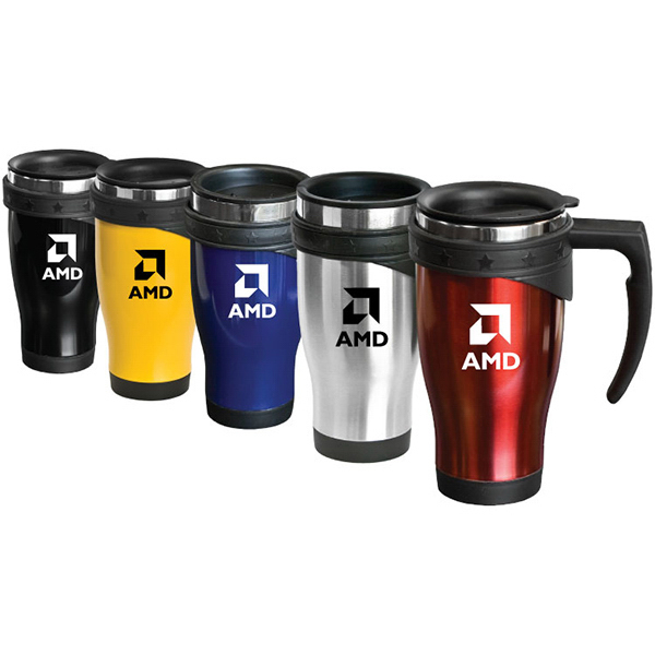 Promotional Benecia - 16 oz Stainless Steel Travel Mug