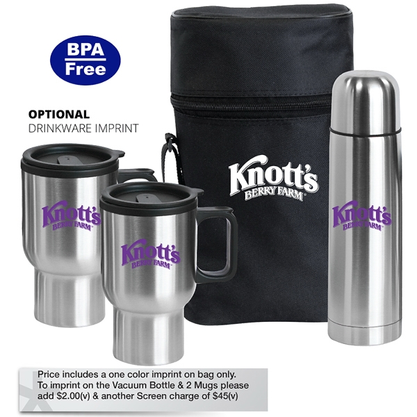 Promotional Pacifica - Stainless Steel Travel Drinkware Set