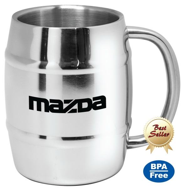 Personalized Dublin - 14 oz Stainless Steel Beer Mug