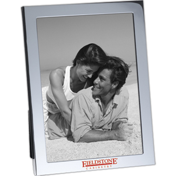 Imprinted Rectangular Silvertone Photo Frame