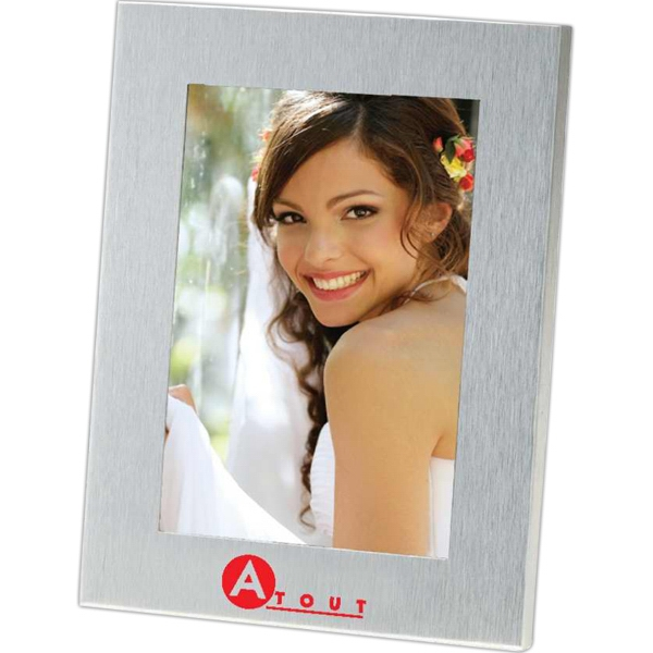 Customized Lecce - Brushed Metal Photo Frame
