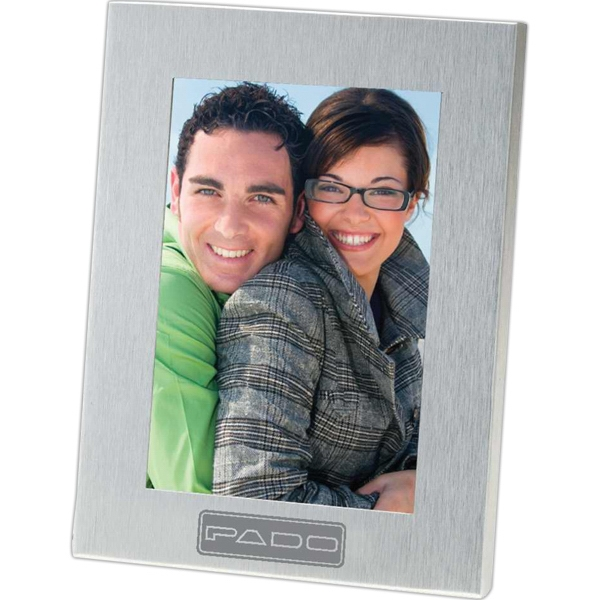 Personalized Lecce - Brushed Metal Photo Frame