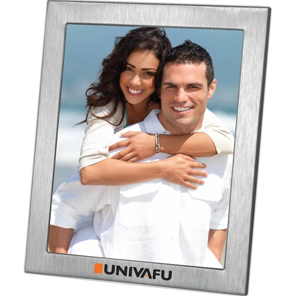 Promotional Lecce - Brushed Metal Photo Frame