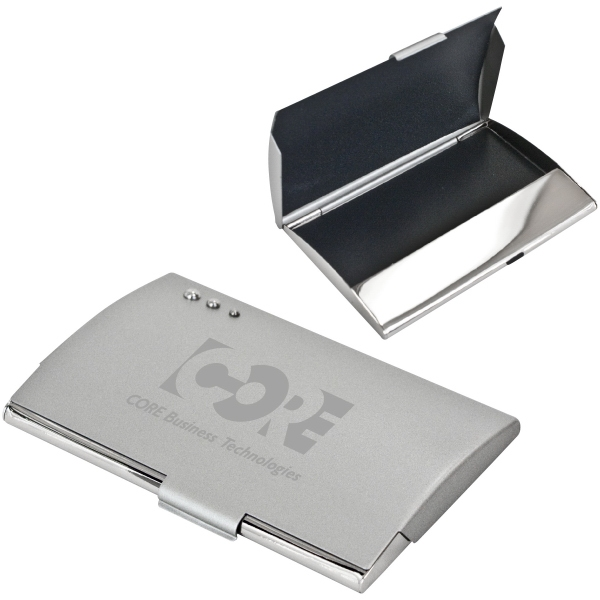 Imprinted Curve Business Card Holder