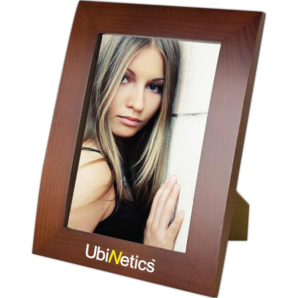 Imprinted Ferrara - Walnut Finish Photo Frame