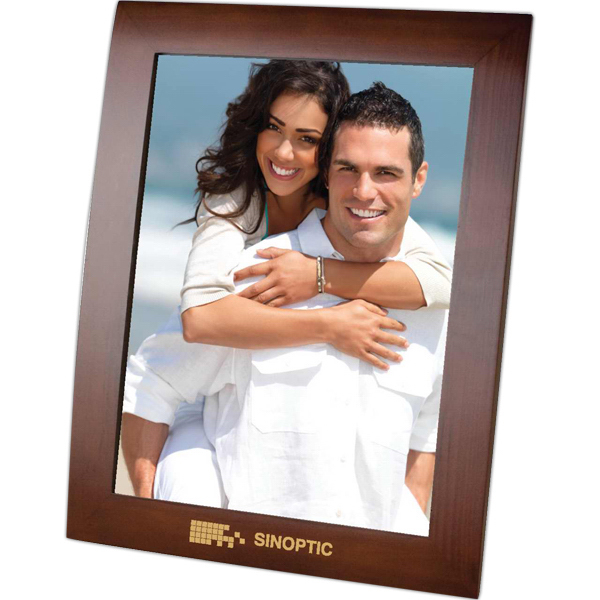 Custom Ferrara - Walnut Finish Photo Frame