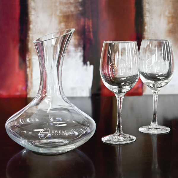 Customized Wine decanter and wine glass set