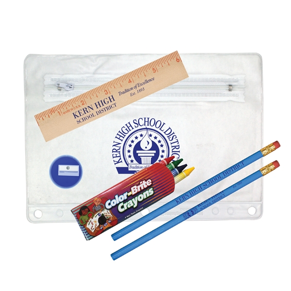 Personalized Clear Translucent School Kit