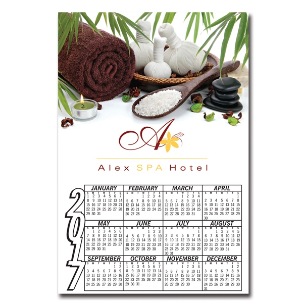Printed Full Color Digital Calendar Magnet
