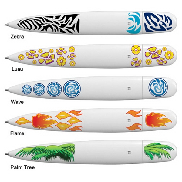 Printed Surfboard Pen, Full Color Digital