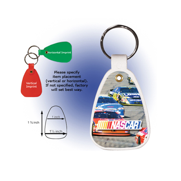 Personalized Saddle Key Tag, Full Color Digital