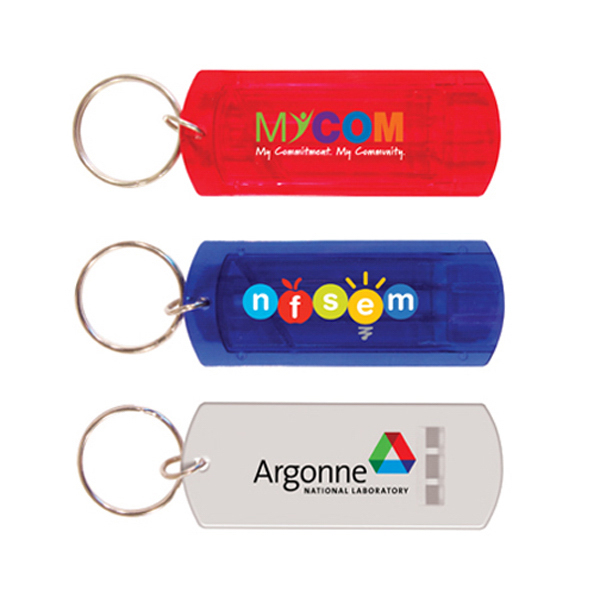Personalized Whistle Key Chain, Full Color Digital