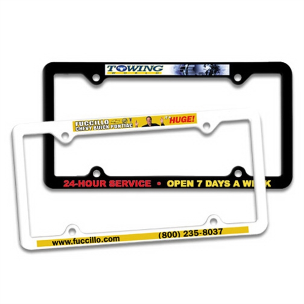 Personalized Thin Panel License Plate Frame, Full Color Digital