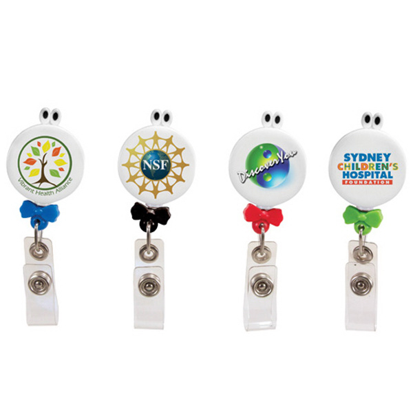 Personalized Googly-Eyed Bow-Tie Badge Holder, Full Color Digital