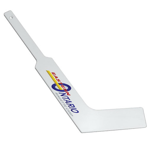 Customized Mini Plastic Goalie Stick, Full Color Digital