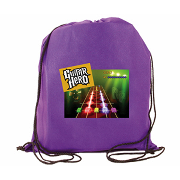 Personalized Non-Woven Drawstring Backpack, Full Color Digital