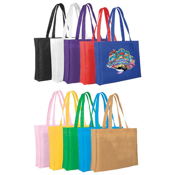 Imprinted Non-Woven Tote Bag, Full Color Digital