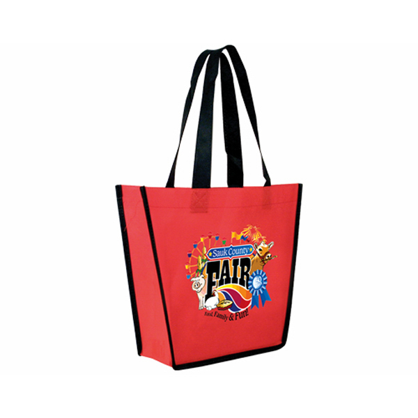 Printed Non-Woven Fiesta Tote Bag, Full Color Digital
