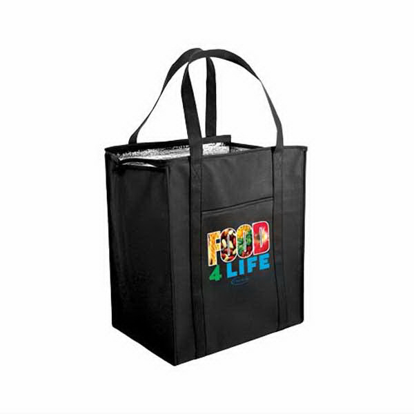 Customized Non-Woven Large Insulated Tote Bag, Full Color Digital