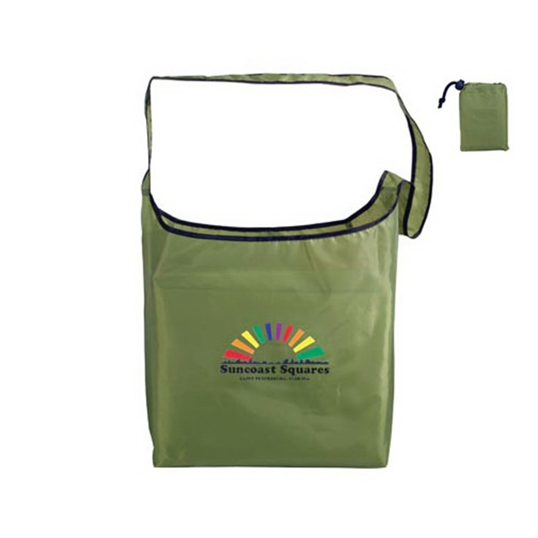 Personalized RPET Fold-Away Sling Bag, Full Color Digital