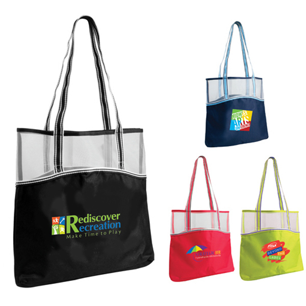 Customized Everyday Mesh Top Tote, Full Color Digital