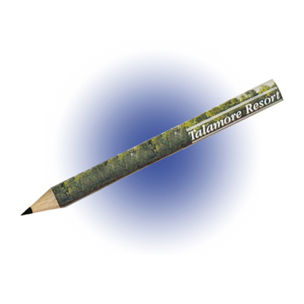 Personalized Round Golf Pencil, Full Color Digital