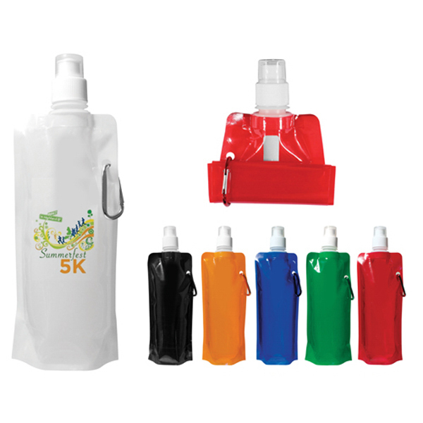 Printed 16 oz. Folding Water Bottle, Full Color Digital