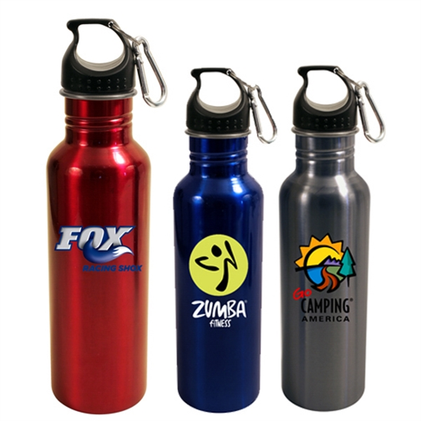 Printed 24 oz Stainless Steel Quest Bottle, Full Color Digital