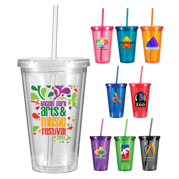 Printed 16 oz. Victory Acrylic Tumbler, Full Color Digital
